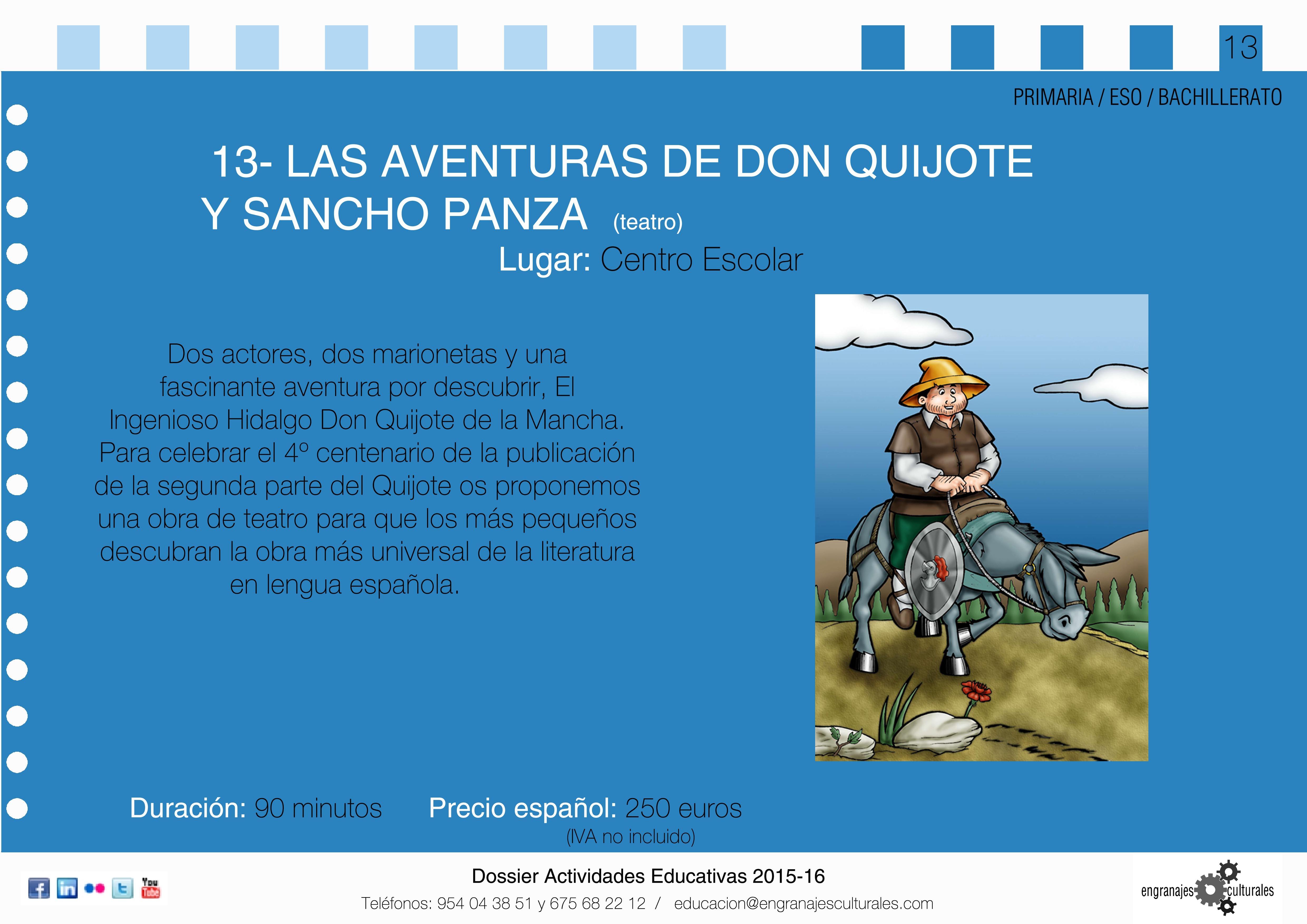 Las aventuras de Don Quijote y Sancho Panza - Engranajes ...