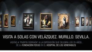 cartel velazquez Murillo Sevilla Visita a Solas