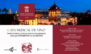 Cata de vino musical Hotel Alfonso XIII