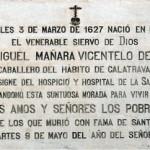 Placa conmemorativa de su nacimiento en su casa natal
