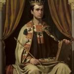 Retrato Alfonso X el Sabio. Joaquín Domínguez Bécquer. Salón Montpensier (Ayuntamiento de Sevilla)