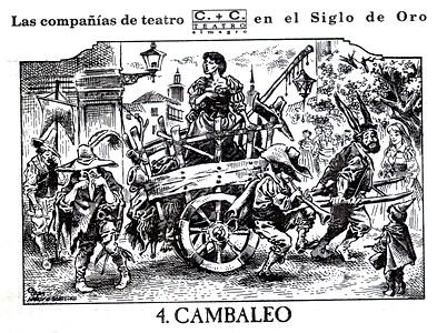 Cambaleo, Tipo de compañía teatral donde actuaban las mujeres. (Una mujer que canta y cinco hombres que lloran)