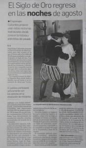 Teatro en la Sevilla del Siglo de Oro, Diario de Sevilla 3-08-2015