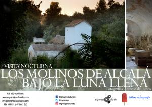 Visita a los molinos de Alcalá bajo la luna llena