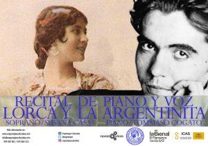 Recital: Lorca y la Argentinita. @ Real Academia de Bellas Artes de Santa Isabel de Hungría   Sevilla   Andalucía   España