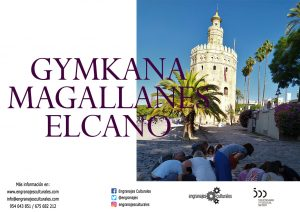Gymkana de Magallanes @ Puerta Jerez (junto a la fuente de los poetas de la Generación del 27)